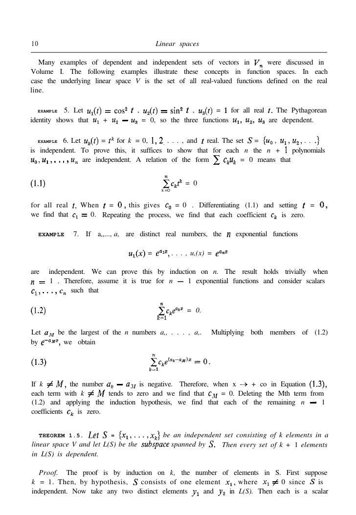 Apostol: Calculus Volume 2