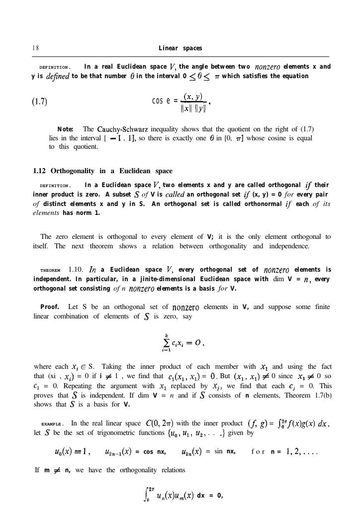 Apostol Calculus Volume 2