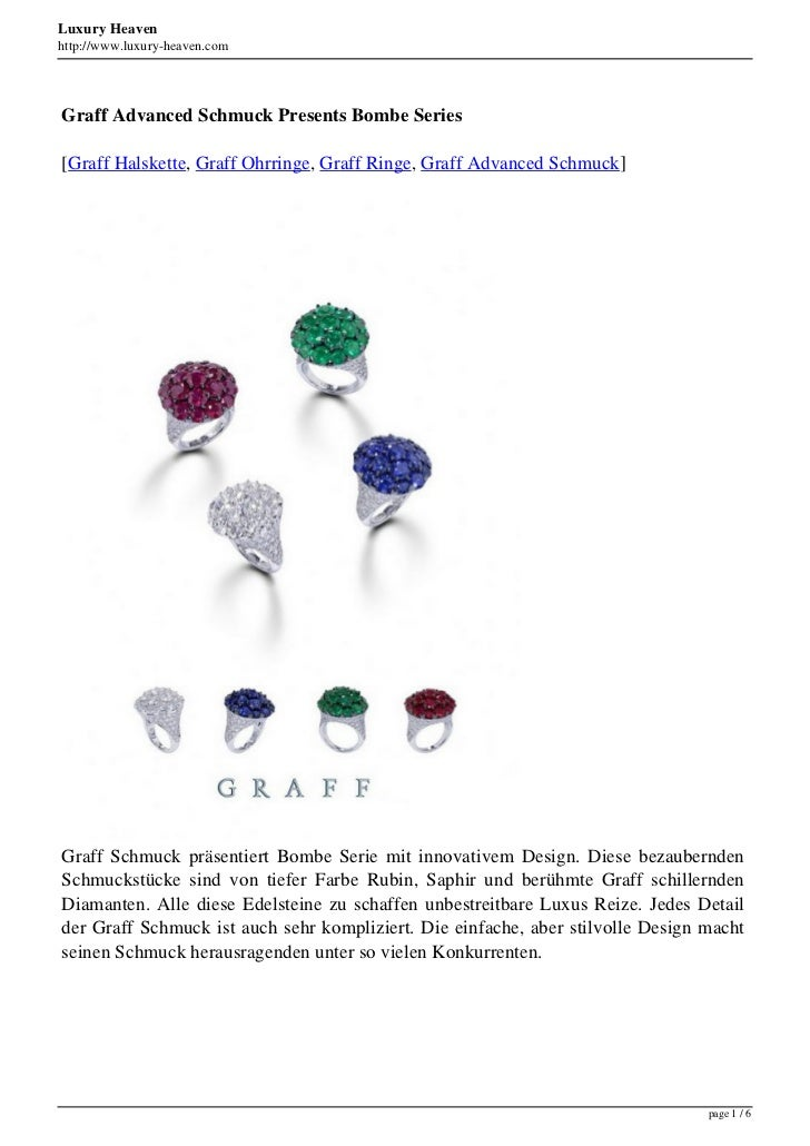 Luxury Heavenhttp://www.luxury-heaven.comGraff Advanced Schmuck Presents Bombe Series[Graff Halskette, Graff Ohrringe, Gra...
