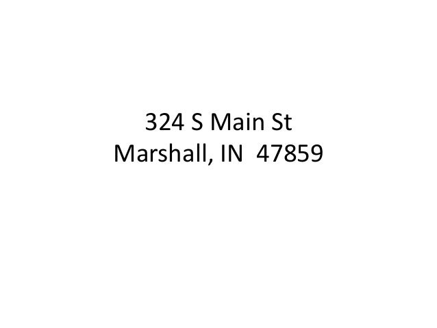 324 S Main St Marshall, IN 47859