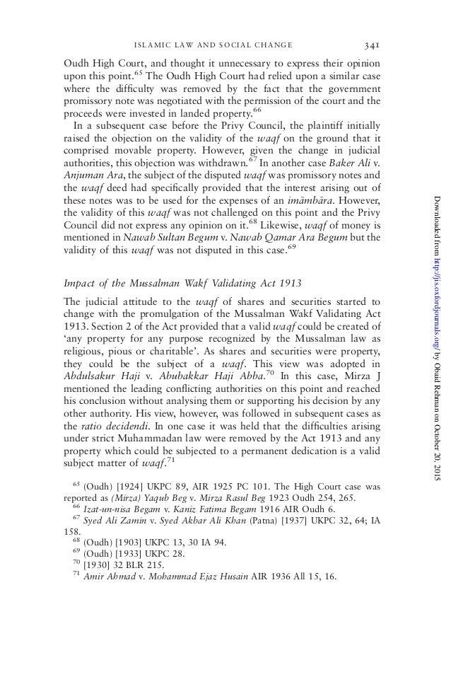 Musalman wakf validating act 1930 fashion