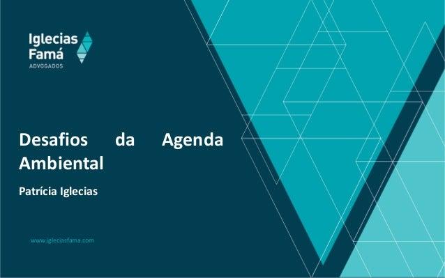 www.igleciasfama.com Desafios da Agenda Ambiental Patrícia Iglecias