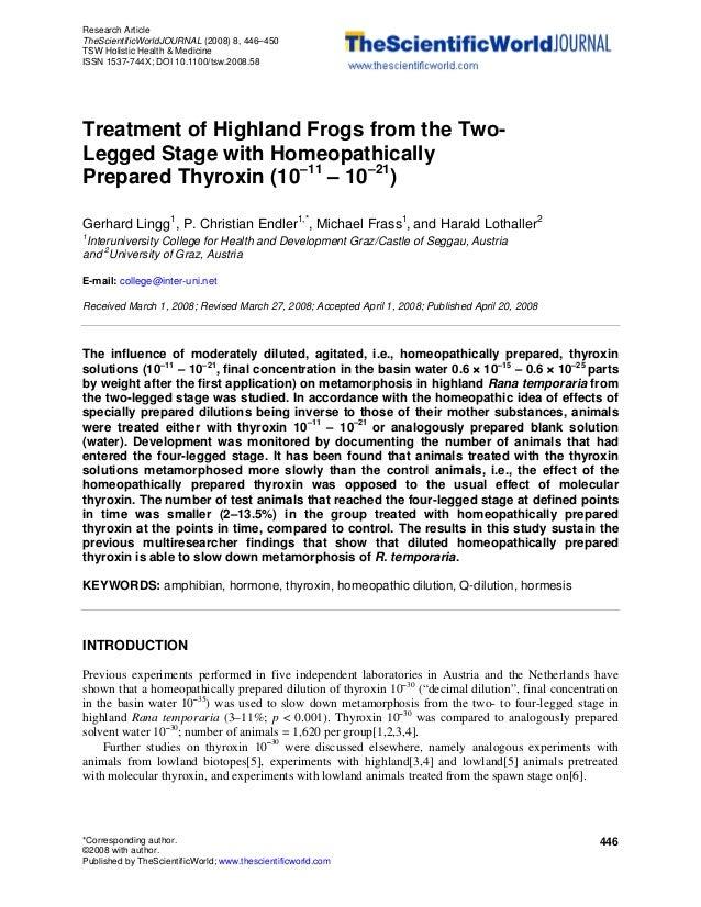 Research Article TheScientificWorldJOURNAL (2008) 8, 446–450 TSW Holistic Health & Medicine ISSN 1537-744X; DOI 10.1100/ts...