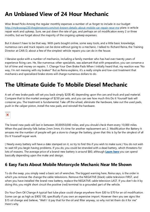 Car Repair Places Near Me >> The 6 Minute Rule For Mobile Car Repair Near Me