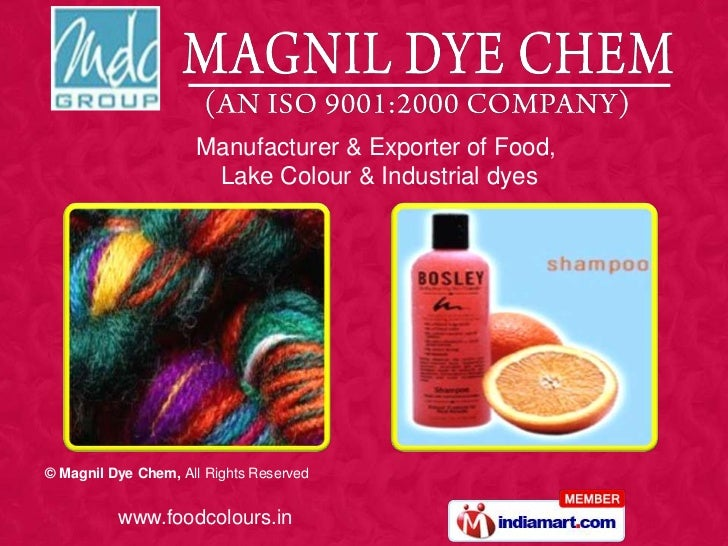 Synthetic Food Colours By Magnil Dye Chem Mumbai