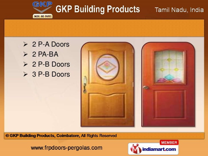 2 P-A Doors? 2 PA-BA? 2 P-B Doors? 3 P-B Doors ...  sc 1 st  SlideShare & Designer Glass Doors by GKP Building Products Coimbatore Coimbatore