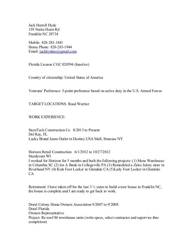 jack harrell hyde resume