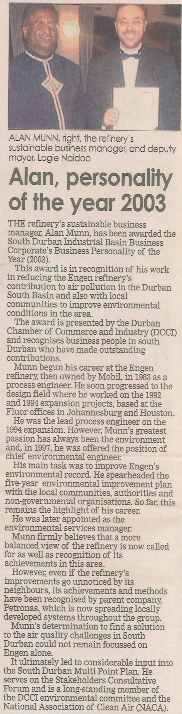ALan Munn DCCI Award