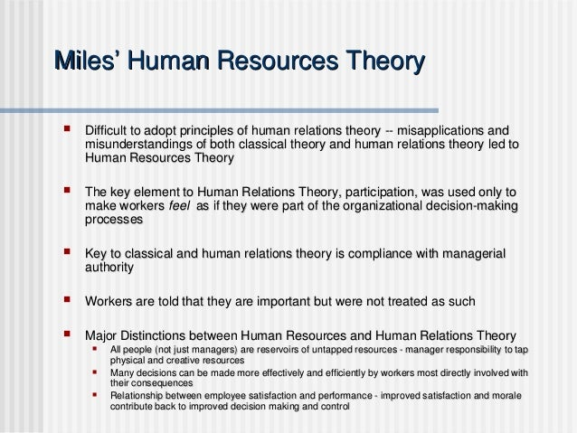 Human Relations Vs Classical Approach To Management Essay
