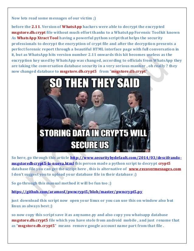WhatsApp Chat Hacking/Stealing POC