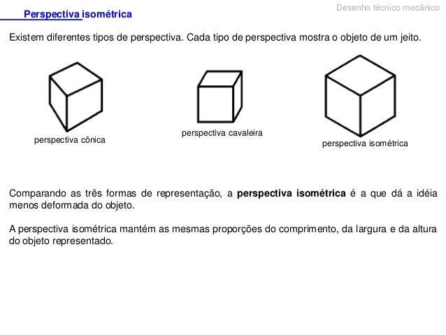 Desenho Tecnico Perspectiva Isometrica