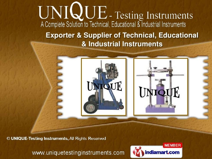 Exporter & Supplier of Technical, Educational          & Industrial Instruments