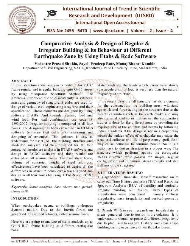 Comparative Analysis & Design of Regular & Irregular Building & its B…