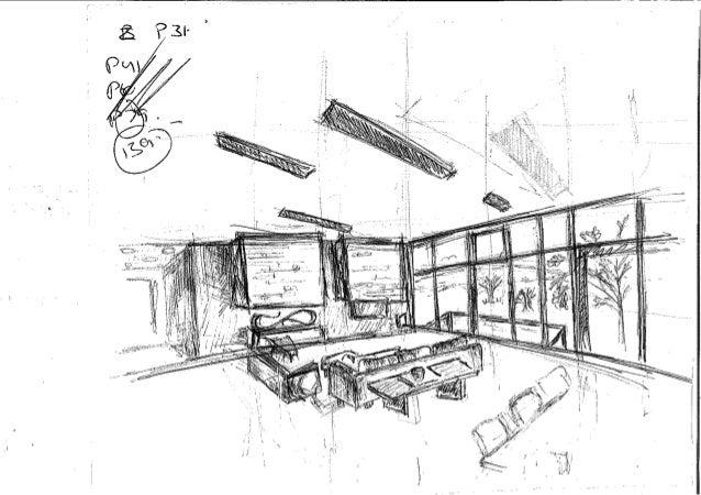 Random interior sketch isometric restaurant view