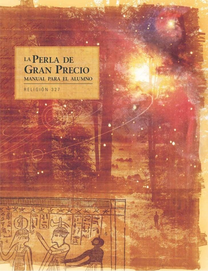 LA   PERLA     DE GRAN PRECIO MANUAL PARA EL ALUMNO  RELIGIÓN 327