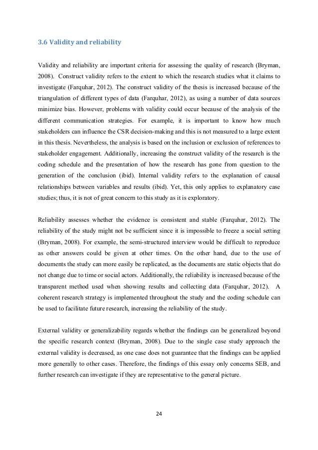Dissertation reliability