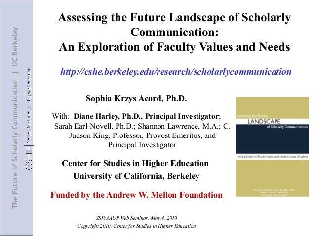 Assessing the Future Landscape of Scholarly                                                                     Communicat...