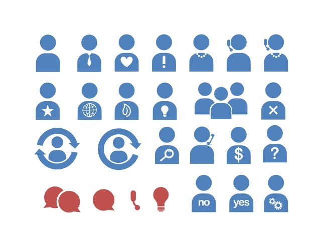 business people icons for powerpoint