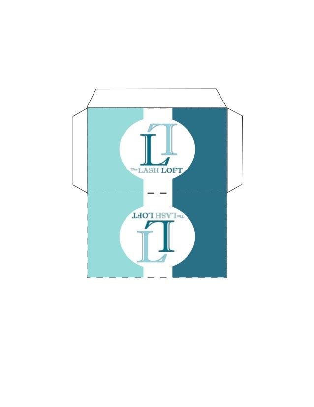 Lash Loft Gift Certificate Envelope