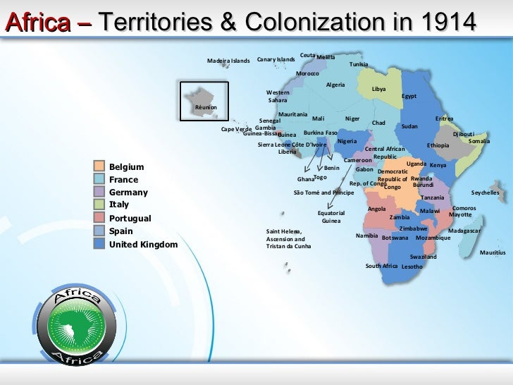 Africa powerpoint map africa map ppt africa territories ccuart Images