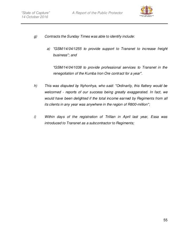 Public Protector Sate Of Capture Report