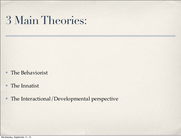 ENG 329 Theories of Language Acquisition
