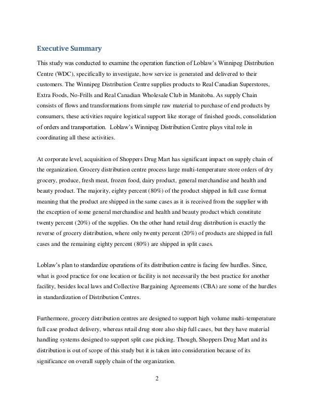 Report-Loblaw\'s WDC