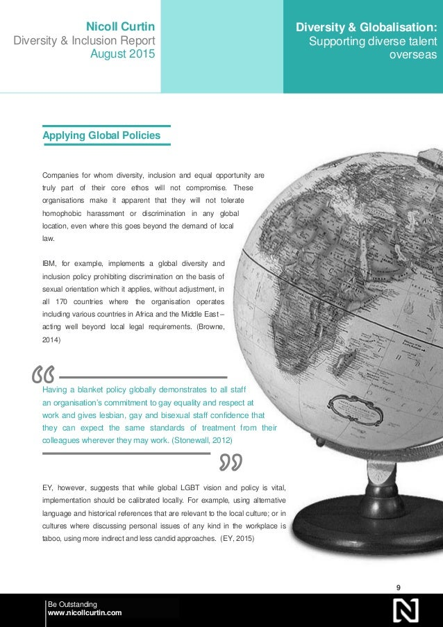 globalisation and workplace diversity Globalization & company culture: respect for diversity  diversity and globalization:  gender diversity in the workplace - duration:.