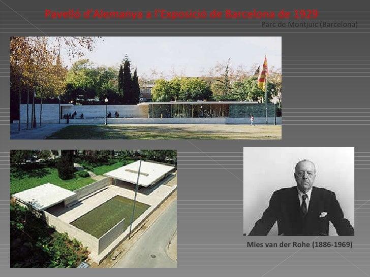 Parc de Montjuïc (Barcelona) Mies van der Rohe (1886-1969)   Pavelló d'Alemanya a l'Exposició de Barcelona de 1929