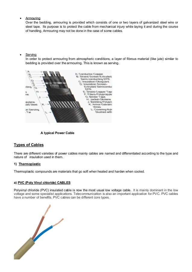 Project on Cable and its classification