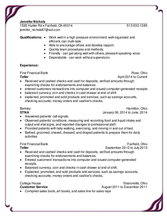Resume tablet