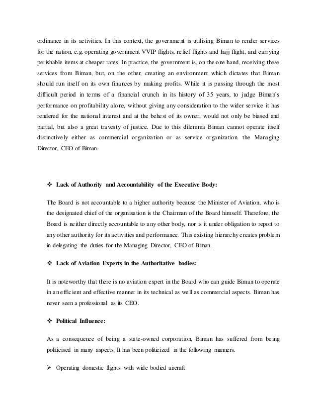 performance analysis of biman bangladesh airlines عرض ملف baqar raza الشخصي على  biman bangladesh airlines  in my tenure revived the performance of the company by helping it achieve.