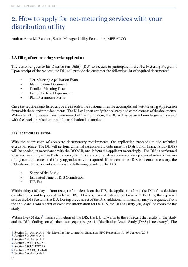 Formal request letter for meralco application