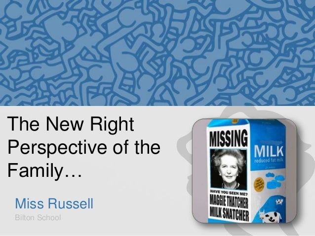 The New Right Perspective of the Family… Miss Russell Bilton School