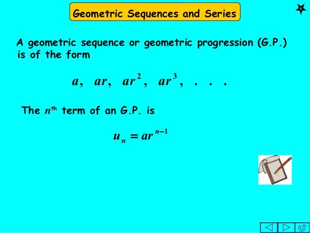 how to find common ratio of geometric series