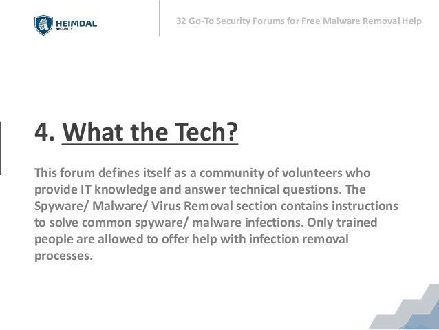 32 Go-To Security Forums for Free Malware Removal Help