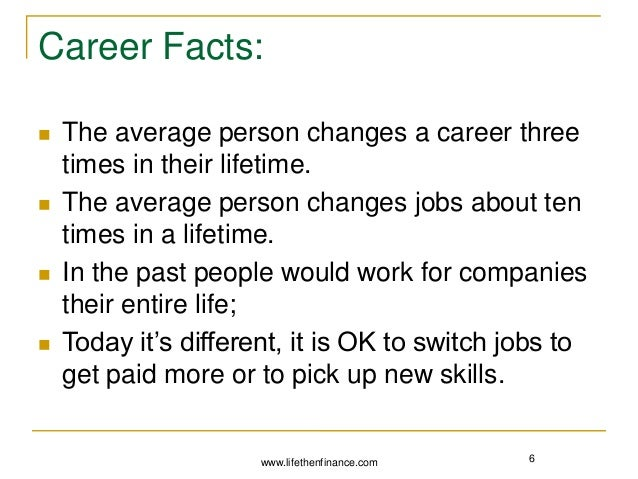 income  difference between a job and a career