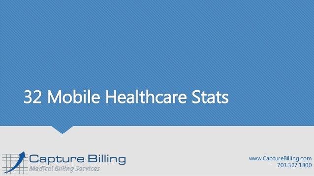 32 Mobile Healthcare Stats www.CaptureBilling.com 703.327.1800
