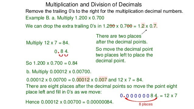 32 multiplication and division of decimals