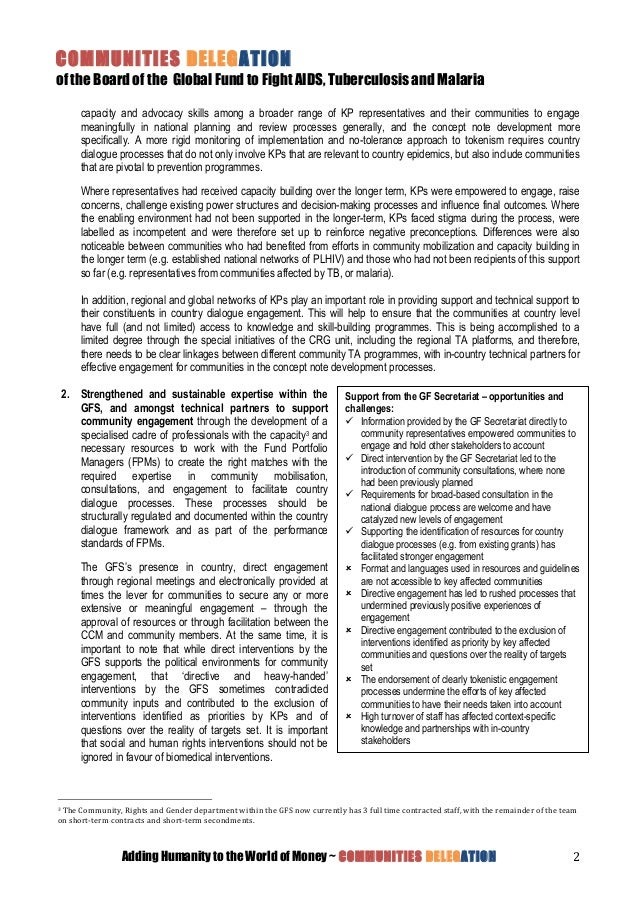 nd board meeting communities delegation country dialogue position p 2
