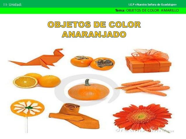 Objetos Color Cosas Anaranjadas