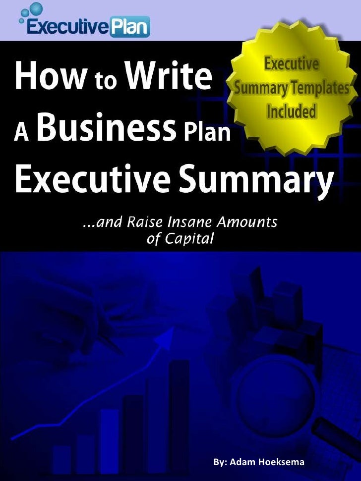 how to write a good business plan summary