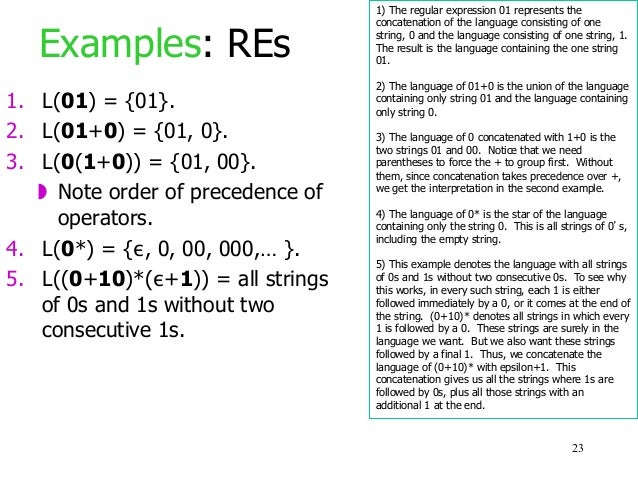 Lecture: Regular Expressions and Regular Languages