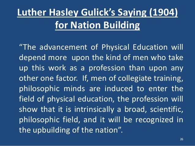 role of education in nation building essay