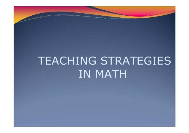 32 Teaching Strategies In Math