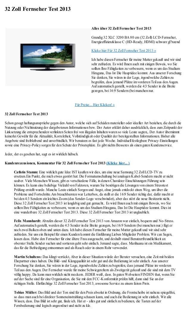 32 Zoll Fernseher Test 2013                                                               Alles über 32 Zoll Fernseher Tes...