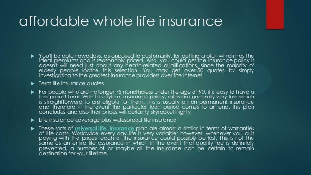 the very best a life insurance policy pertaining to ...