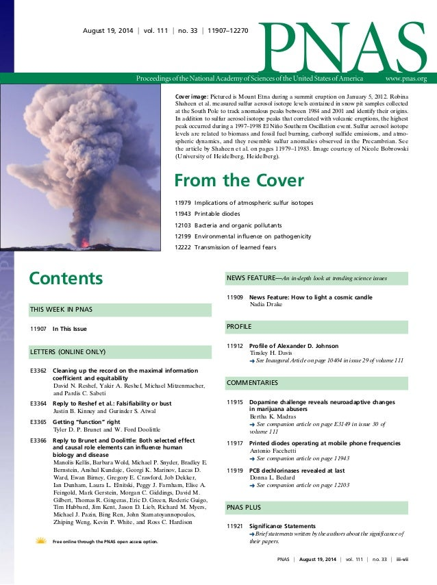 Cover image: Pictured is Mount Etna during a summit eruption on January 5, 2012. Robina  Shaheen et al. measured sulfur ae...