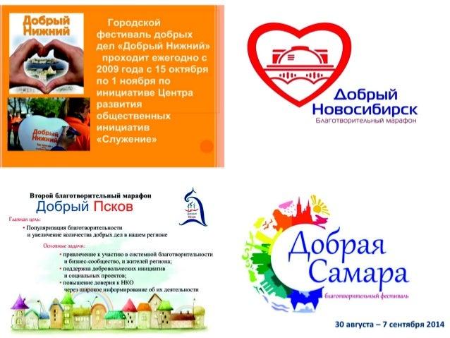 Второй благотворительный марафон  Добрый Псков  Глав:  шя цель:   - Популяризация благотворительности и увеличение количес...