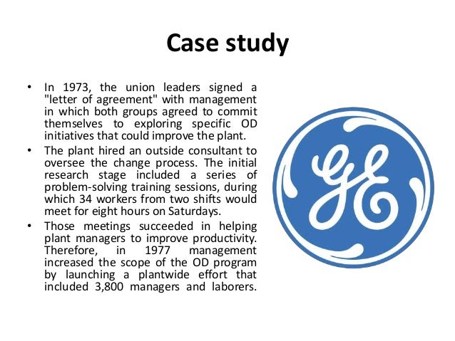case study of od Case study: one distribution  the firm's differentiated buy and build operating approach a key element of this strategy was the work of bertram labs, the firm.